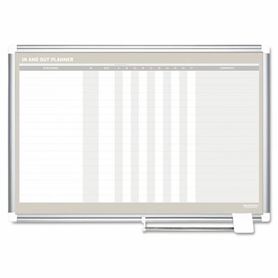 Mastervision In-Out Magnetic Dry Erase Board