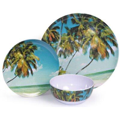 Melamine Horizon 3 Piece Dinnerware Set