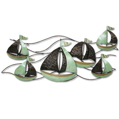 Hand Crafted Metal Sailboat Wall Art