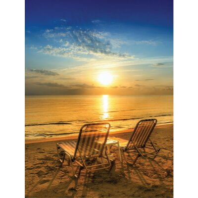 Island Way Outdoor Table for Two Canvas Wall Art