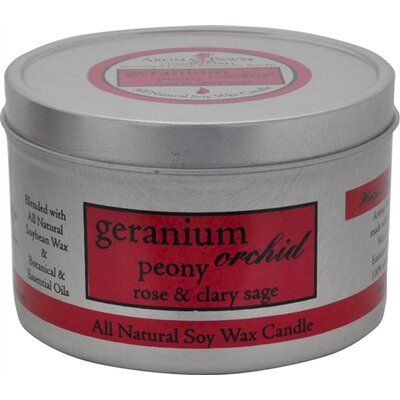 Geranium Orchid Sage Travel Tin Candle