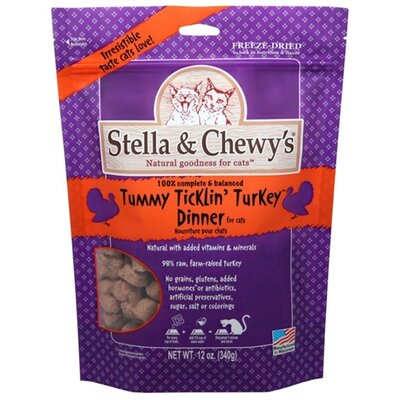 0.8 oz Tummy Ticklin Turkey Freeze Dried Dinner Cat Treat (24 Pack)