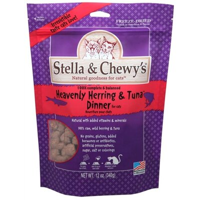0.8 oz Heavenly Herring and Tuna Freeze Dried Dinner Cat Treat (24 Pack)