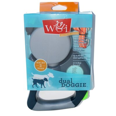 Wigzi Dual Doggie 30 Lbs Per Dog Leash