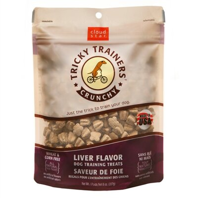 Cloudstar Tricky Trainers Crunchy Liver Flavor Training Dog Treat
