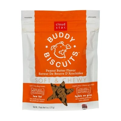 Cloudstar Buddy Biscuits Peanut Butter Flavor Soft & Chewy Dog Treat