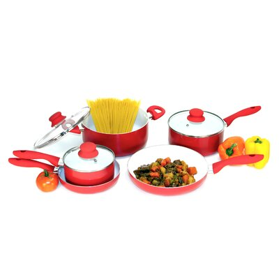 Heuck Nano Ceramic 8-Piece Cookware Set