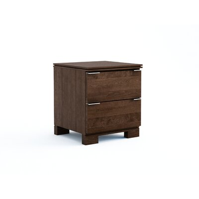 College Woodwork Grandview 2 Drawer Nightstand