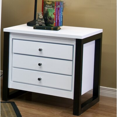 Kidz Decoeur Greenwich 3 Drawer Nightstand
