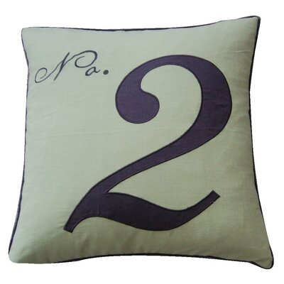 Throw Pillows With Numbers On Them : Levtex Home Number Two Feather Pillow & Reviews Wayfair