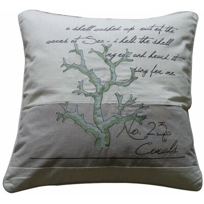Coral Number 23 Feather Pillow