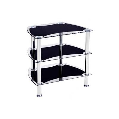 "Hodedah Glass 23"" TV Stand"