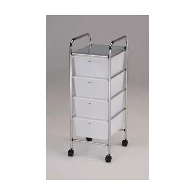New 4 drawer storage cart hobby organizer tidy rolling for Rolling craft cart with drawers