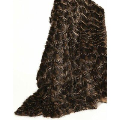 Fancy Furs Eye lash Gold Throw