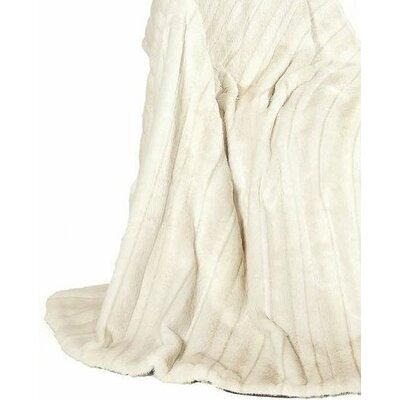 Ital Art Design Fancy Mink Fur Throw