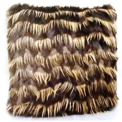 Ital Art Design Fancy Furs Eyelash Gold Pillow