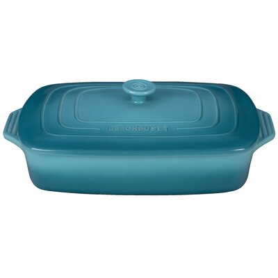 3 1/2-Qt. Covered Stoneware Rectangular Casserole