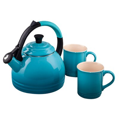 Le Creuset Enamel On Steel 1.7-qt. Peruh Tea Kettle Set