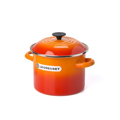 Le Creuset Enamel On Steel Stock Pot with Lid