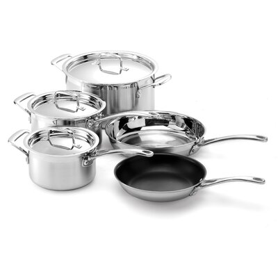 Le Creuset Stainless Steel 8-Piece Cookware Set with Crate