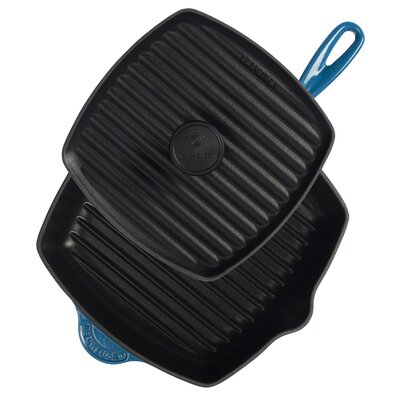 "Le Creuset Cast Iron 10"" Panini Press and Skillet Grill Set"