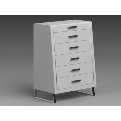 Whiteline Imports Bahamas 6 Drawer Chest