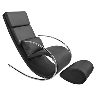 Whiteline Imports Chloe Rocker Chair and Ottoman