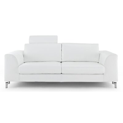 Whiteline Imports Angela Leather Sofa