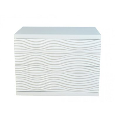 Whiteline Imports Wave Night Stand