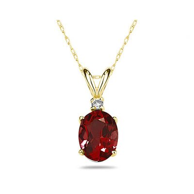 Oval Cut Gemstone Pendant Set