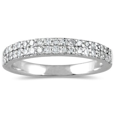 14K White Gold Round Cut Diamond Wedding Ring
