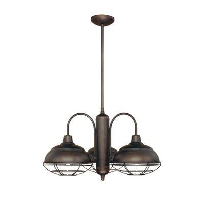 Millennium lighting neo industrial 3 light chandelier for Wayfair industrial lamp