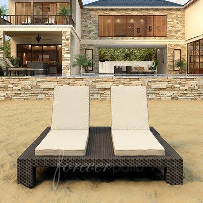 Hampton Double Chaise Lounge with Cushion