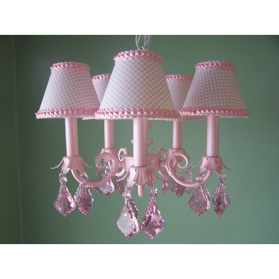 Silly Bear Lighting Pretty in Pink 5 Light Chandelier