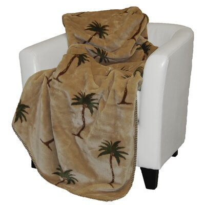 Denali Throws Acrylic Palm Trees Double-Sided Throw