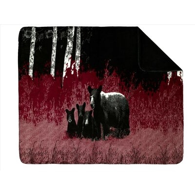 Acrylic Bear Family Double-Sided Throw