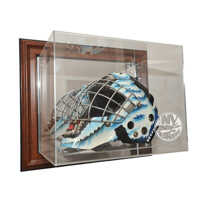 Caseworks International NHL Goalie Mask Case Up Display Case in Brown