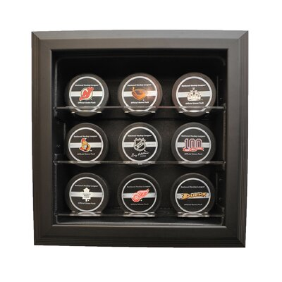 "Caseworks International Nine Puck ""Case-Up"" Display in Brown"