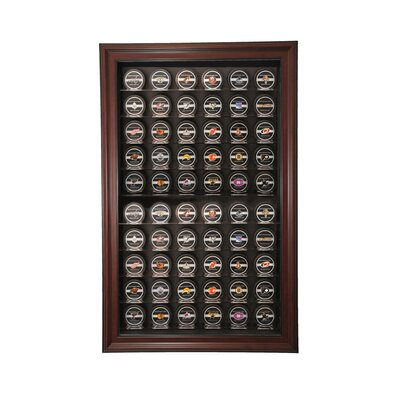 Caseworks International Sixty Puck Display Case in Mahogany