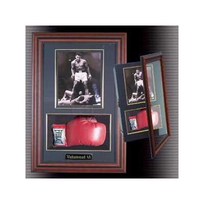 Caseworks International Boxing Glove and Photo Shadow Box Framed Memorabilia Plaque
