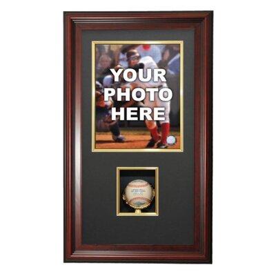 Caseworks International Vertical Photo and Baseball Shadow Box Display