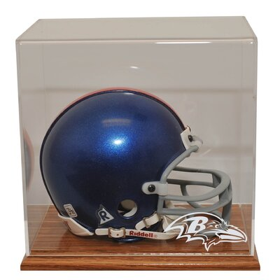 Caseworks International Mini Helmet Display in Wood finish