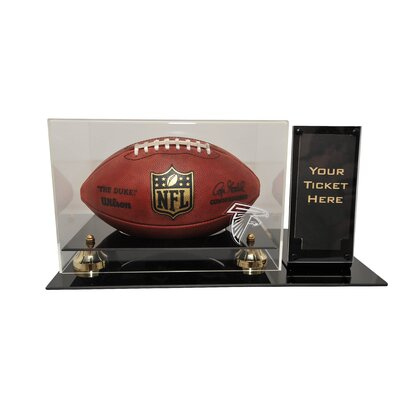 Caseworks International Deluxe Football Display with Ticket Holder