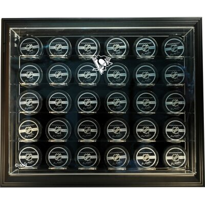 "Caseworks International NHL Thirty Puck ""Case-Up"" Logo Display Case"