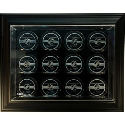 "Caseworks International Twelve Puck ""Case-Up"" Display in Brown"