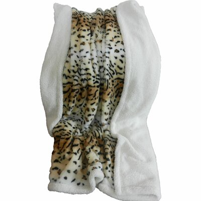 Lavish Home Tiger Polyester Fleece Throw Blanket