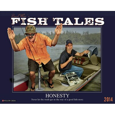Willow Creek Press Buck Wear's Fishing Tales 2014 Wall Calendar
