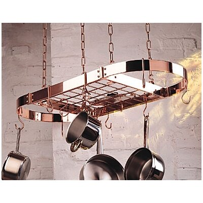 Rogar Gourmet Oval Pro Hanging Pot Rack