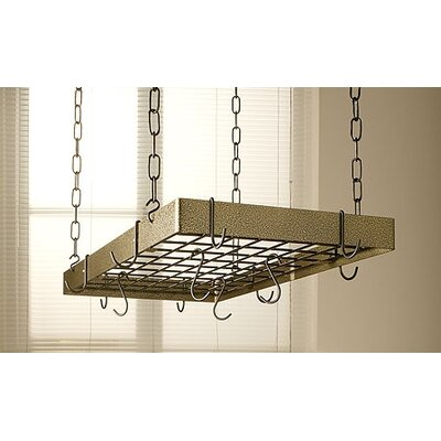 Gourmet Hammered Hanging Pot Rack