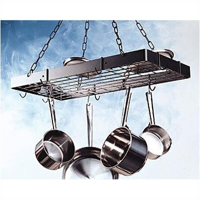 Rogar Rectangular Hanging Pot Rack with Grid